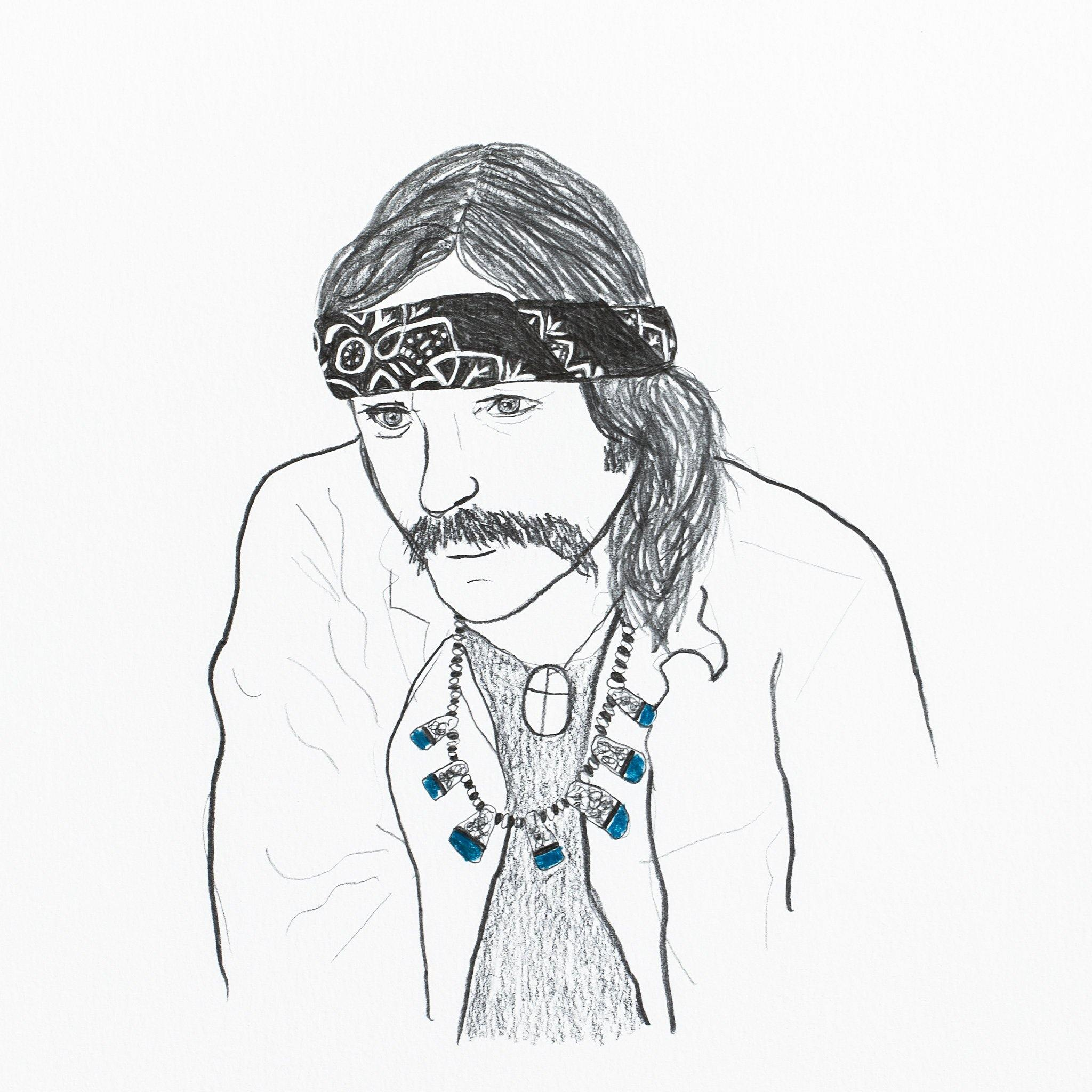 Dennis Hopper, Drawing  by  Dennis Hopper Tappan