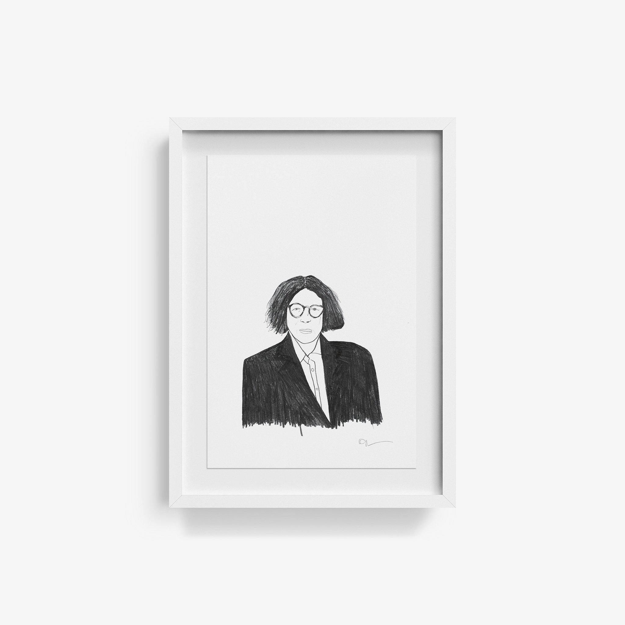 Fran Lebowitz, Original Work on Paper  by  Fran Lebowitz Tappan