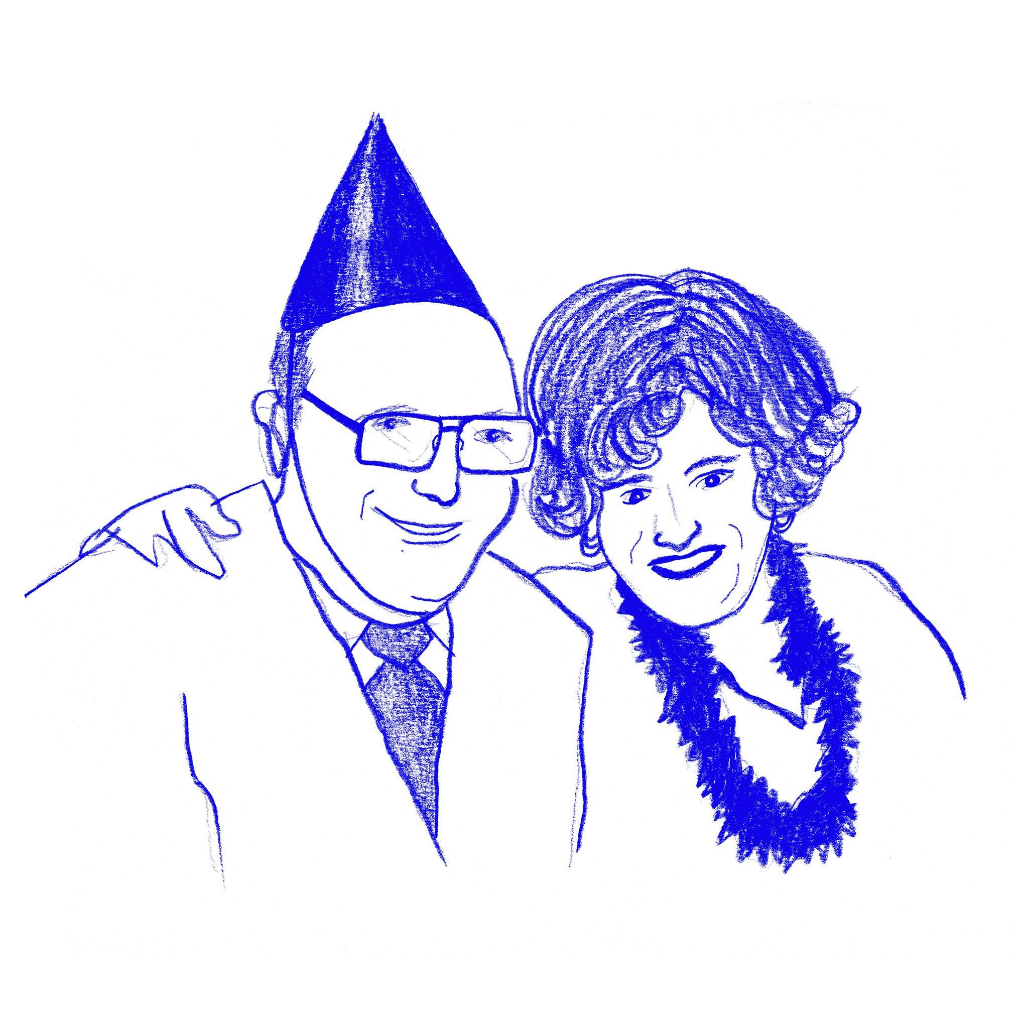 Frank & Inez, New Year's Eve, Print  by  Frank & Inez, New Year's Eve Tappan