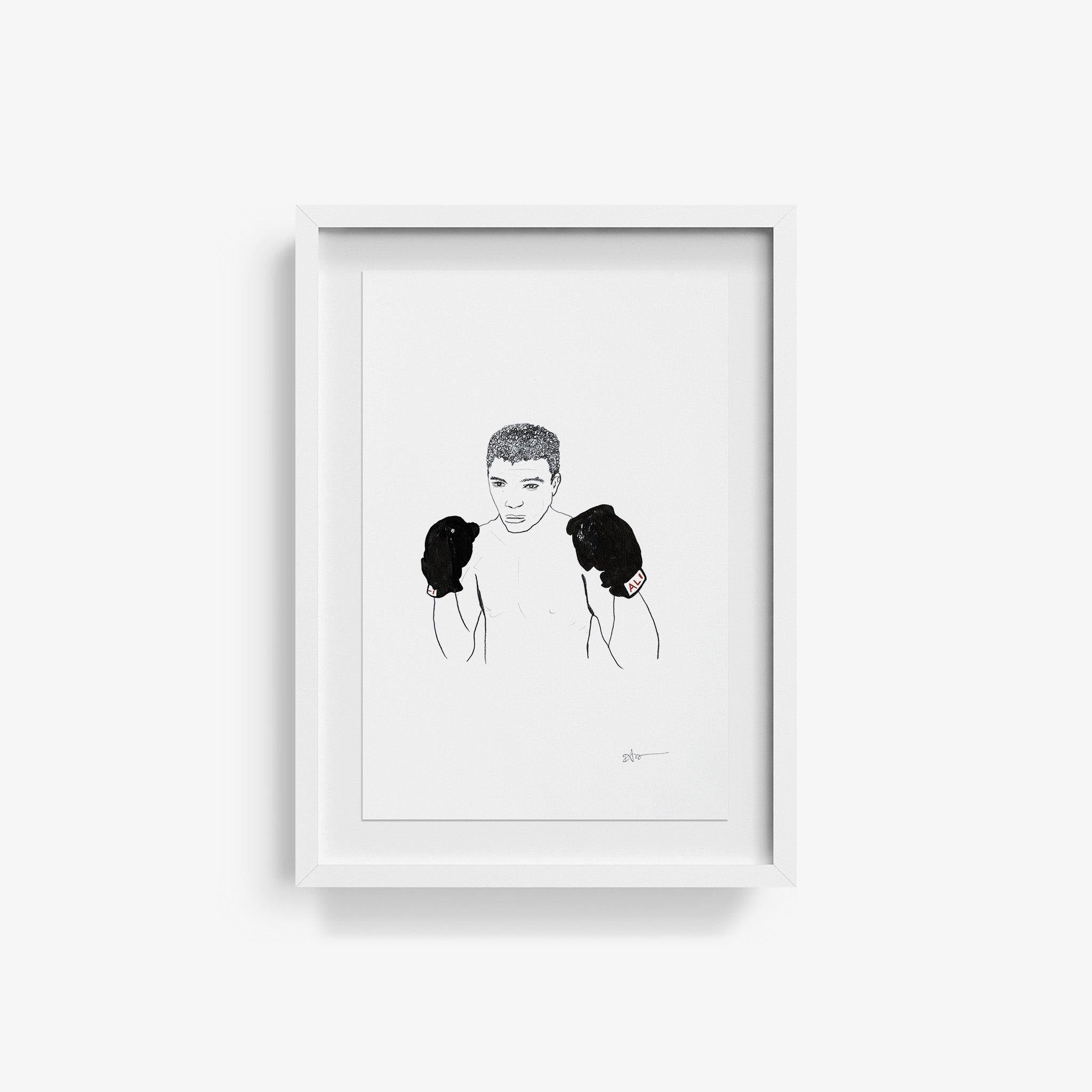 Muhammad Ali, Original Work on Paper  by  Muhammad Ali Tappan