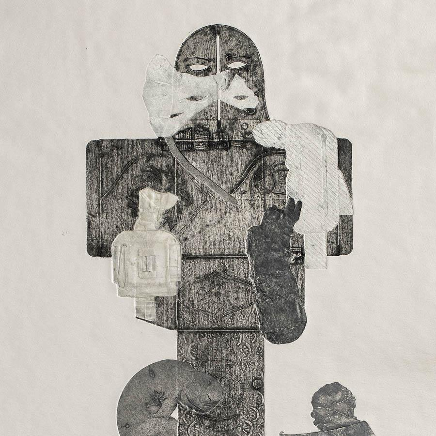 Totem (Masked), Original Work on Paper  by  Totem (Masked) Tappan