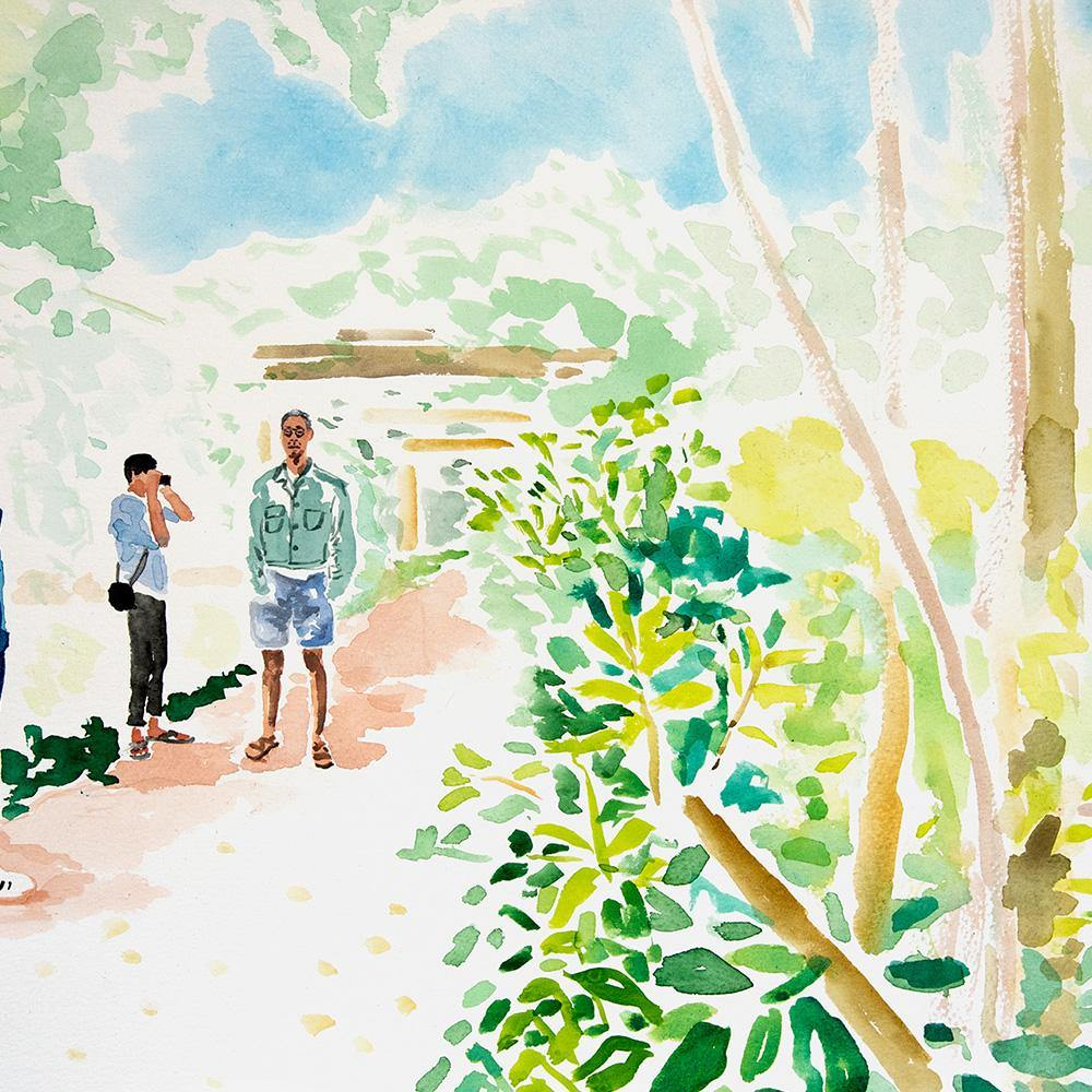 Garden Wandering, Original Work on Paper  by  Garden Wandering Tappan