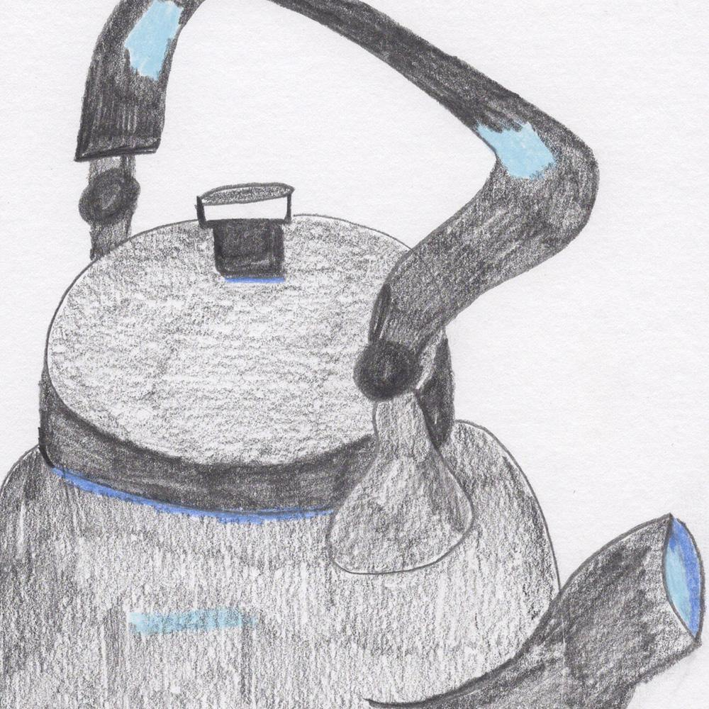 Indian Tea Kettle, Drawing  by  Indian Tea Kettle Tappan