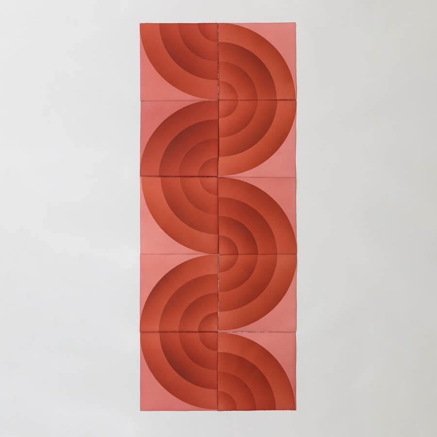 Grooves in Red, Original Work on Paper  by  Grooves in Red Tappan