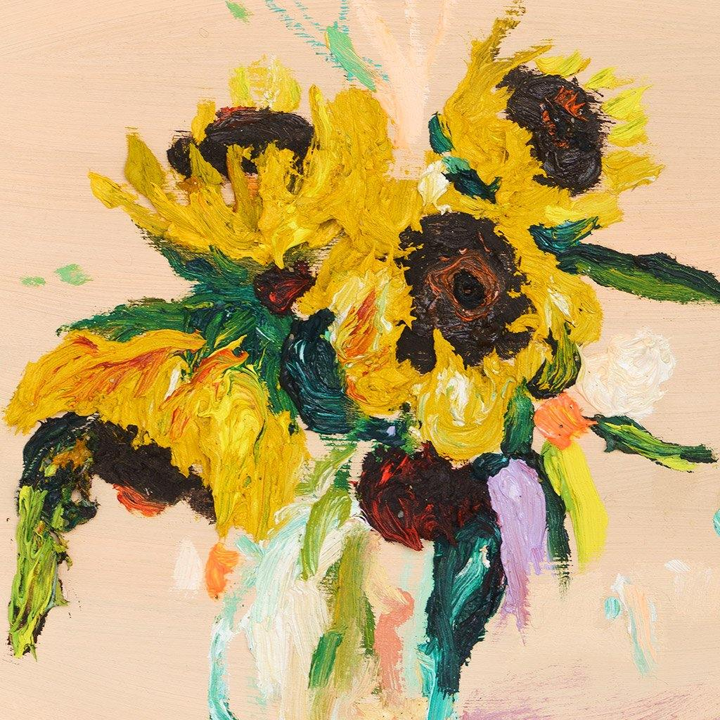 Pink Sunflowers, Painting  by  Pink Sunflowers Tappan