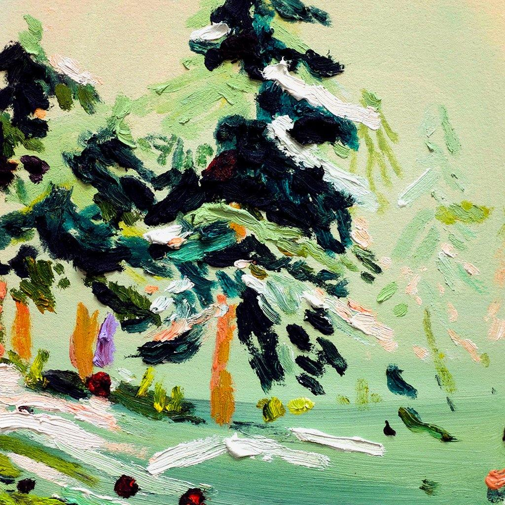 Snowy Forest, Painting  by  Snowy Forest Tappan
