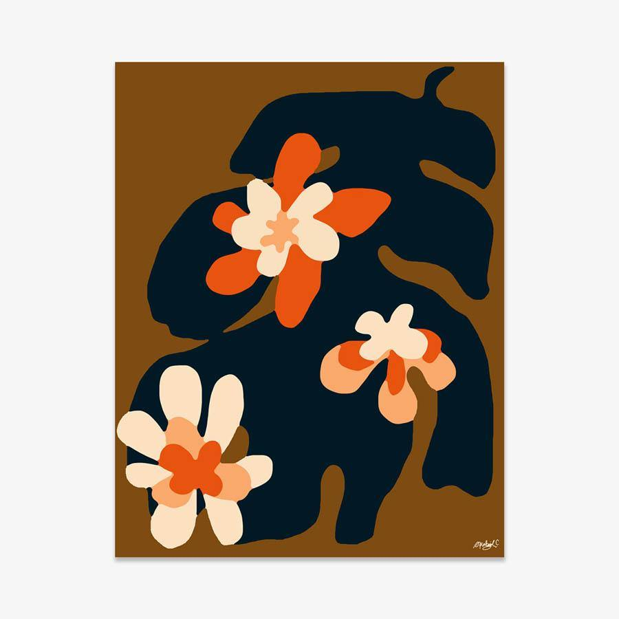 Art Deer With Flowers Blooming Out Of Body Dyptich