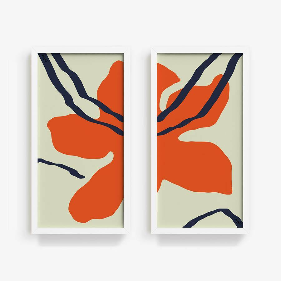 Red Bloom | Diptych