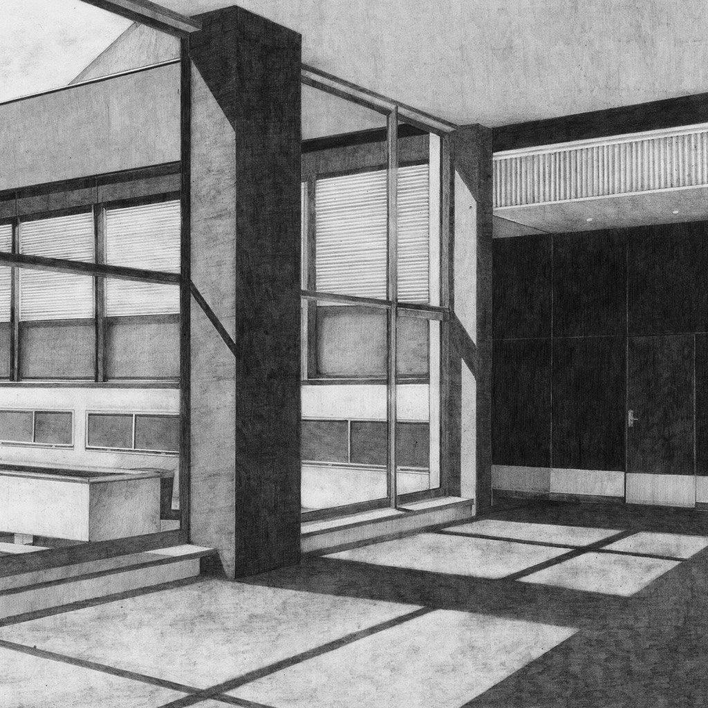 Hall D, Drawing  by  Hall D Tappan