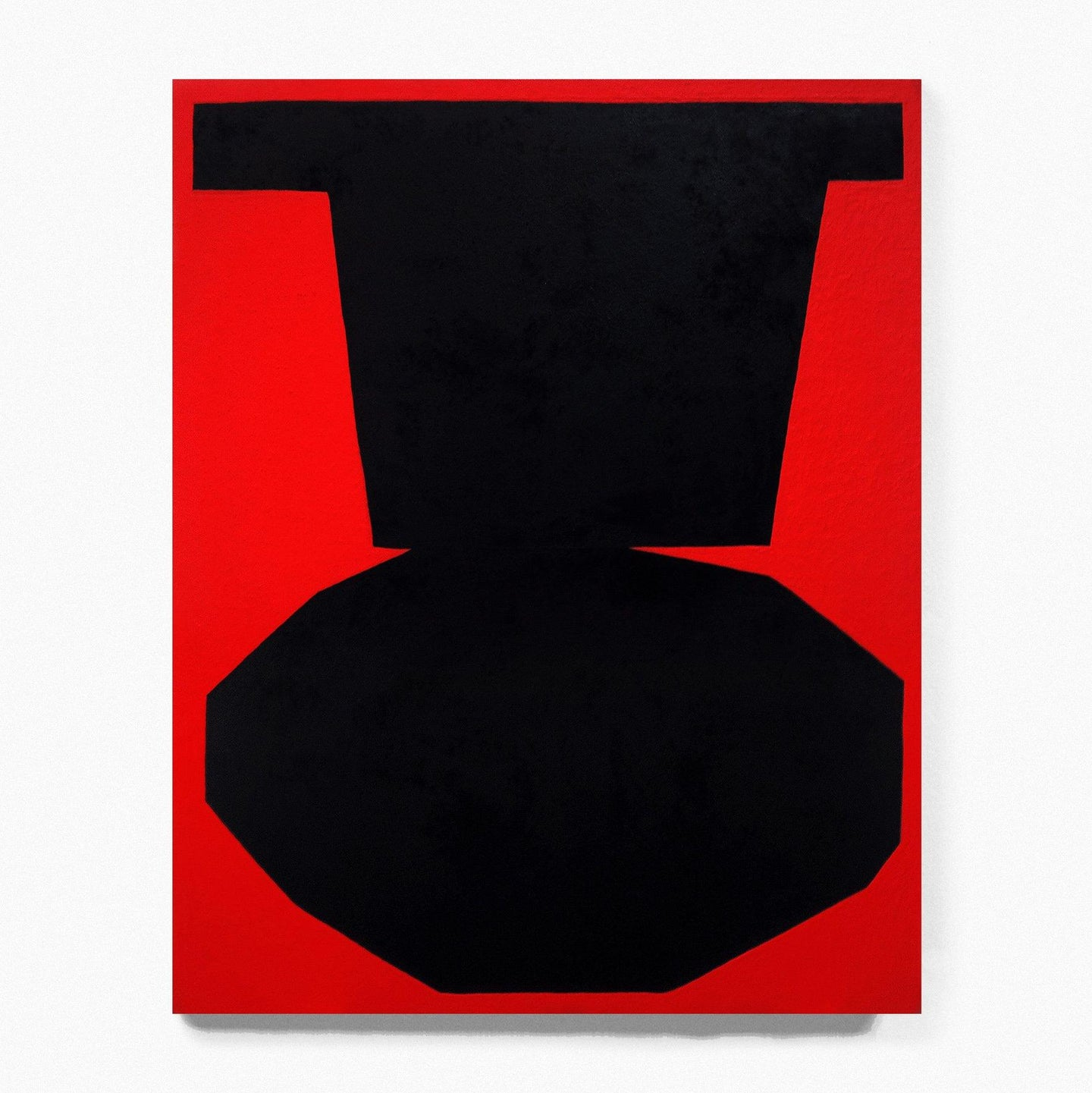 Black on Red I, Painting  by  Black on Red I Tappan