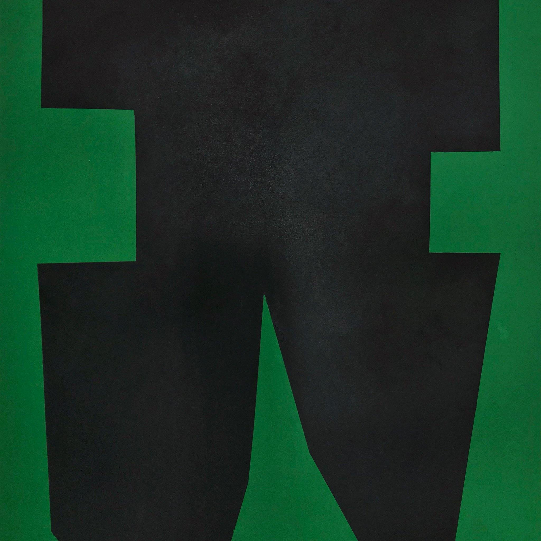 Black on Green Paper I, Original Work on Paper  by  Black on Green Paper I Tappan