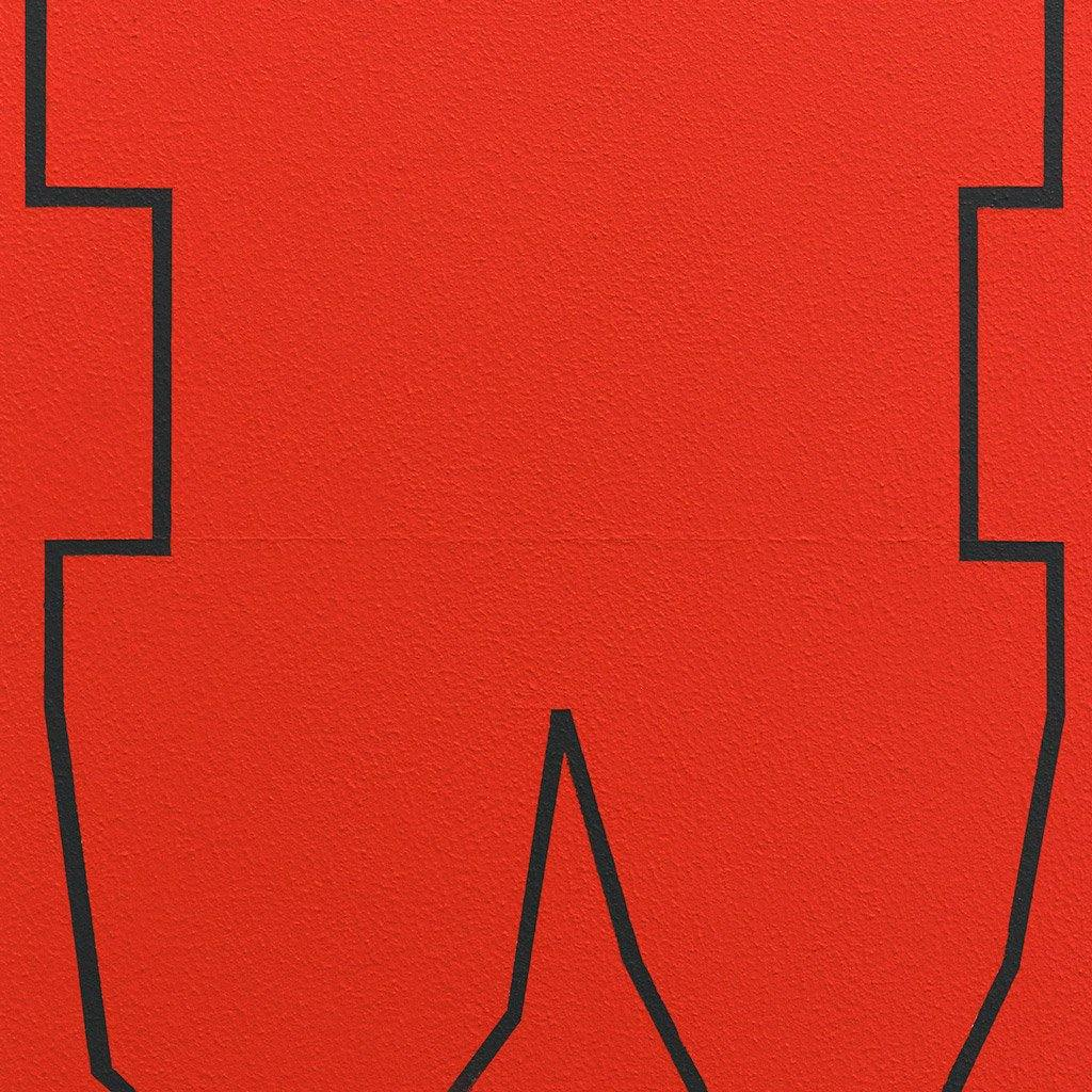 Black on Red III, Painting  by  Black on Red III Tappan