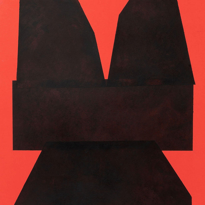 Black on Red Paper II