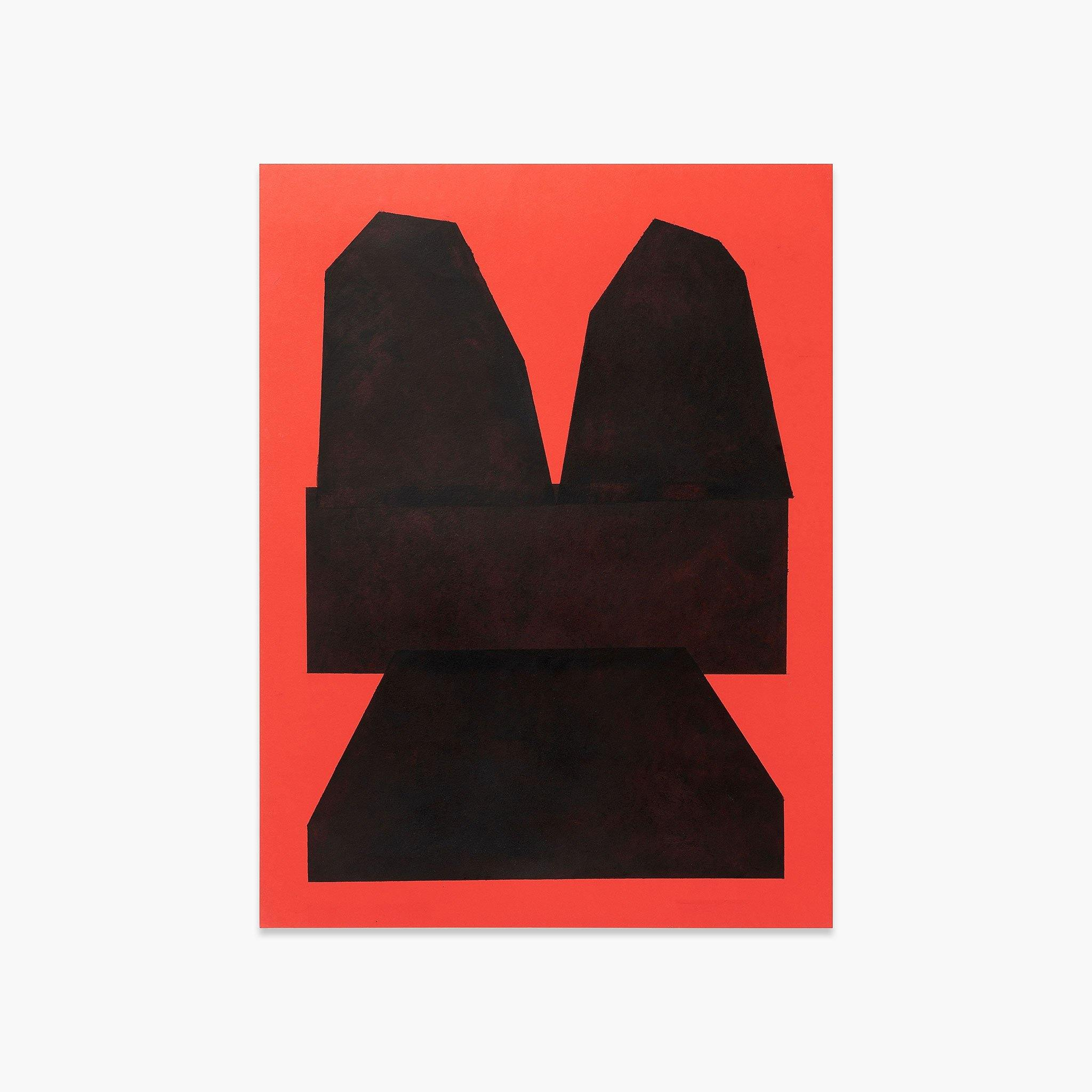 Black on Red Paper II, Original Work on Paper  by  Black on Red Paper II Tappan