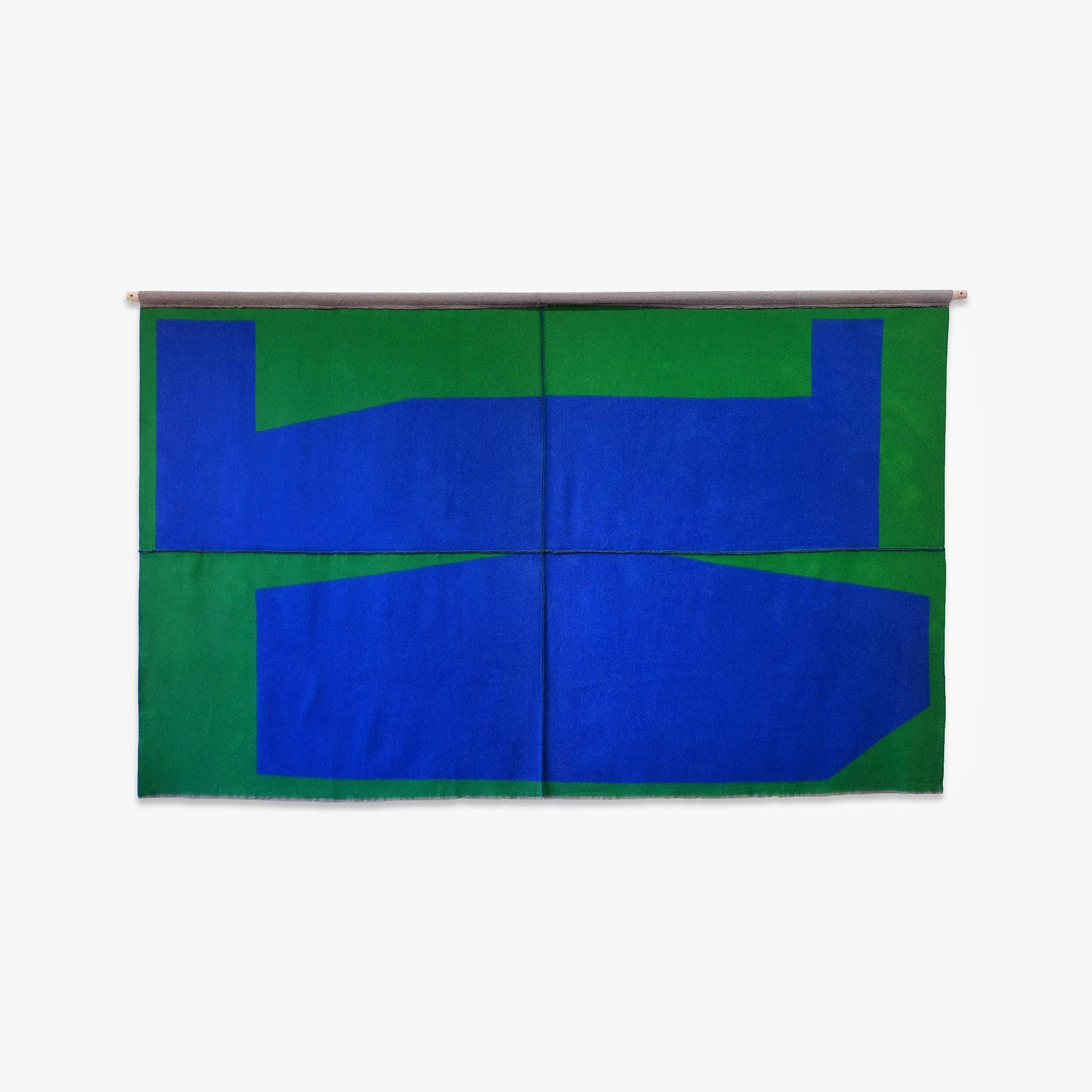 Blue on Green, Textile  by  Blue on Green Tappan