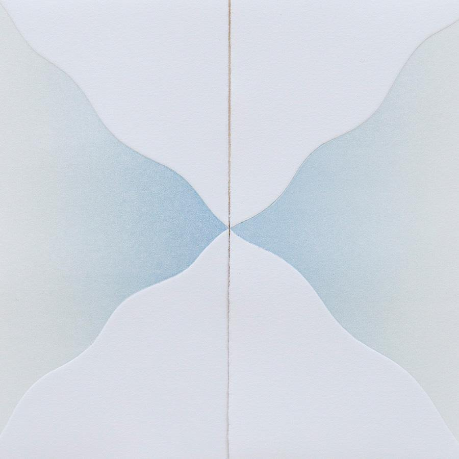 Peaks (in White), Original Work on Paper  by  Peaks (in White) Tappan