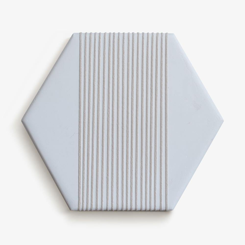 Plaster Hexagon White