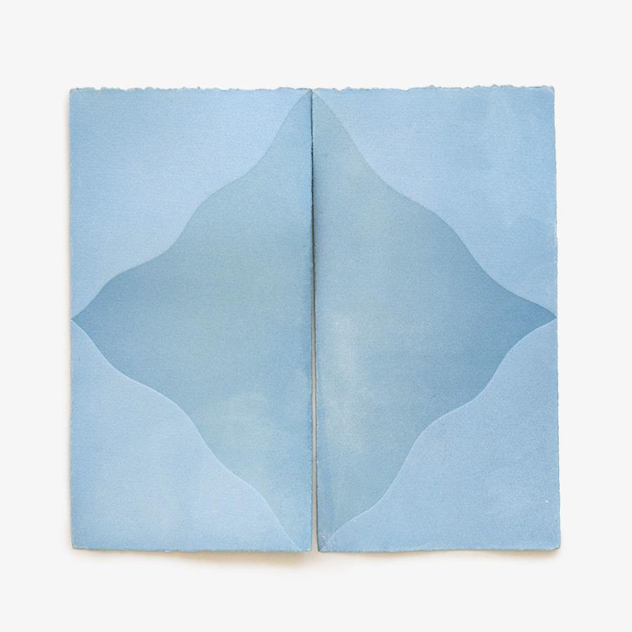 Peaks (in Indigo), Original Work on Paper  by  Peaks (in Indigo) Tappan