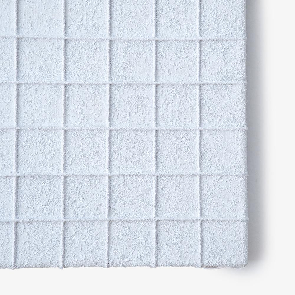 Sand Grid White, Textile  by  Sand Grid White Tappan