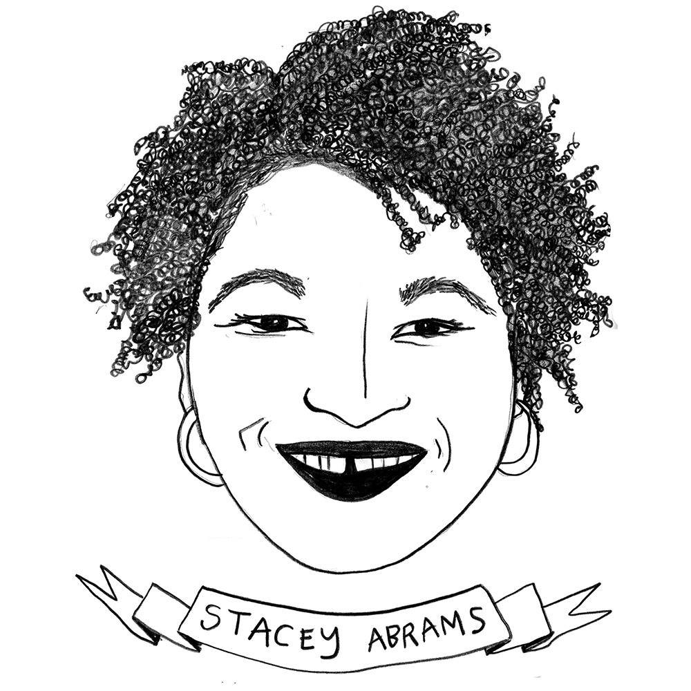 Stacey Abrams, Print  by  Stacey Abrams Tappan