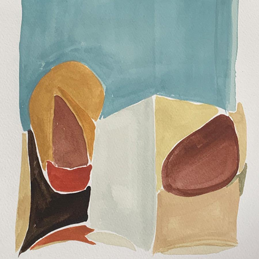 Study 9, Original Work on Paper  by  Study 9 Tappan