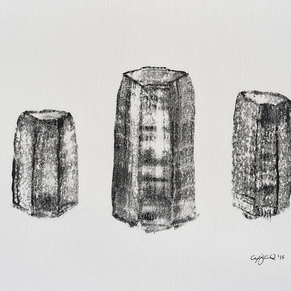 Three Basalt Columns, Print  by  Three Basalt Columns Tappan
