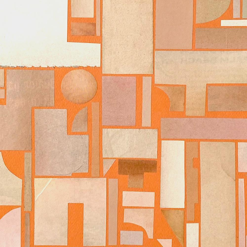 Untitled, Orange, Original Work on Paper  by  Untitled, Orange Tappan