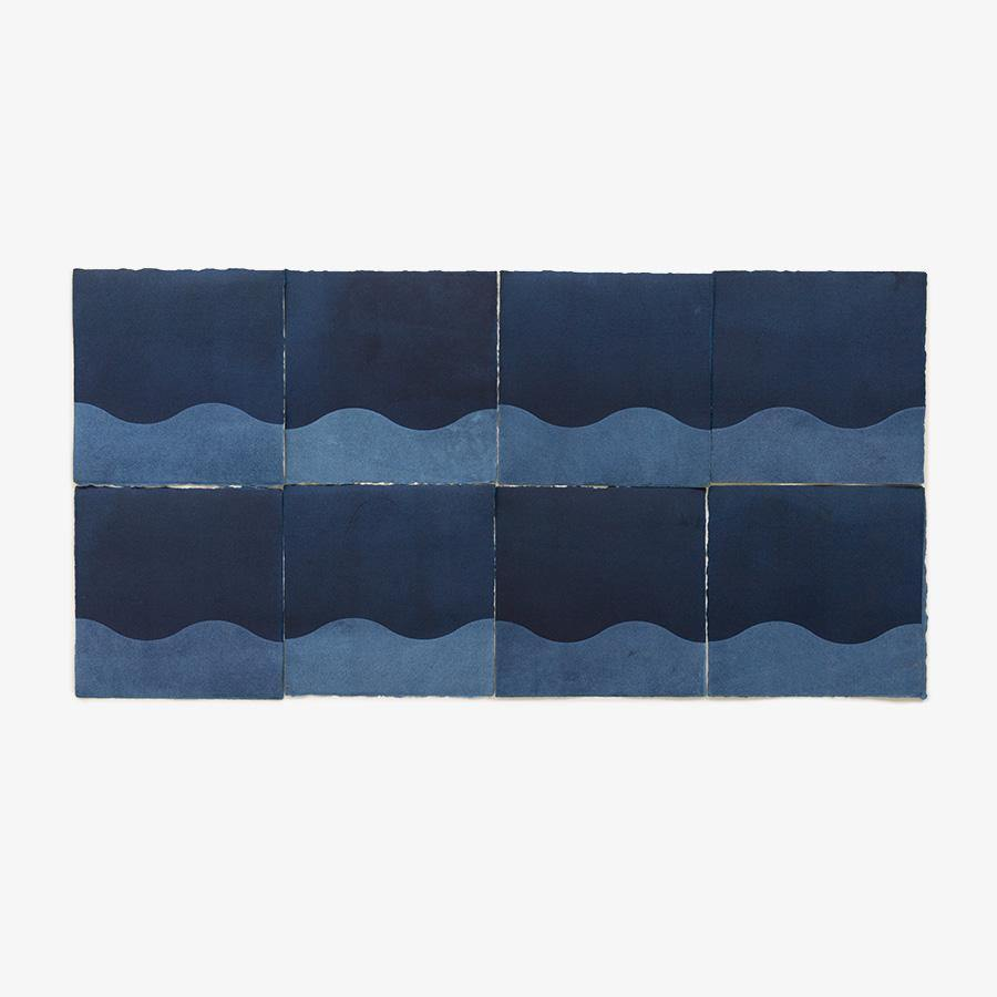 Waves (in Indigo), Original Work on Paper  by  Waves (in Indigo) Tappan