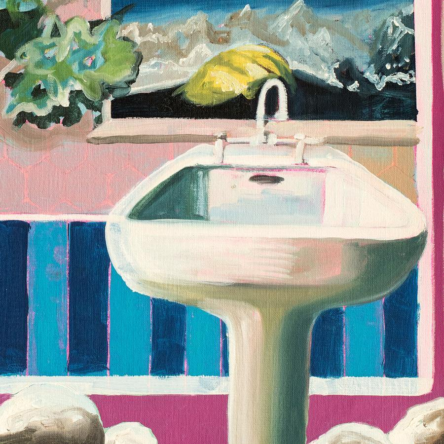 Bathroom Landscape, Original Work on Paper  by  Bathroom Landscape Tappan