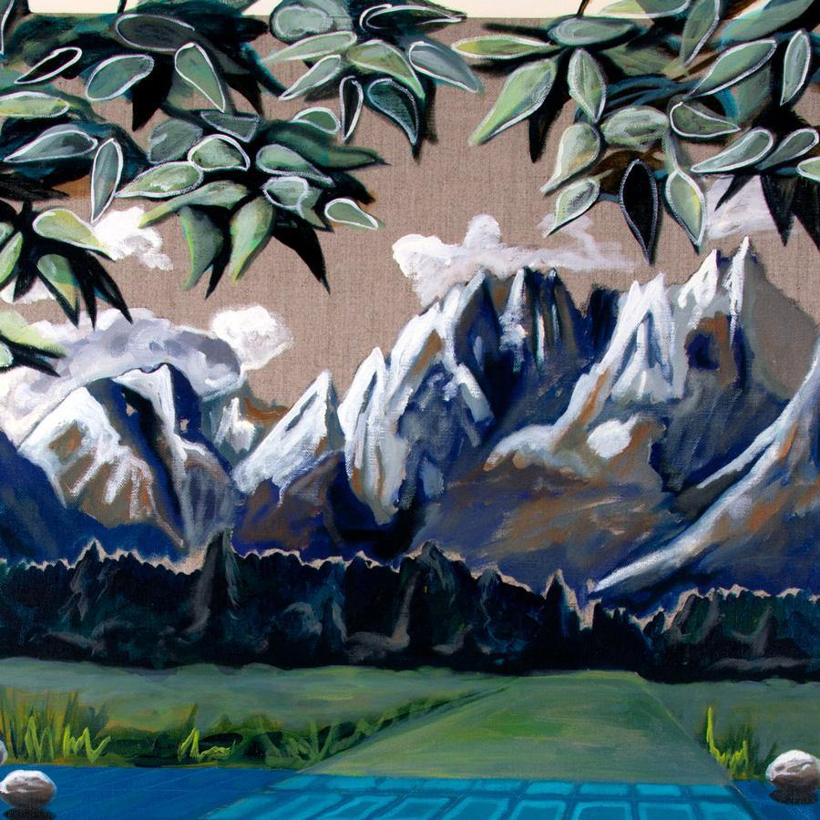 Blue Alpine Pass, Painting  by  Blue Alpine Pass Tappan