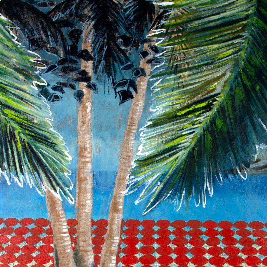 Linen Palms, Painting  by  Linen Palms Tappan