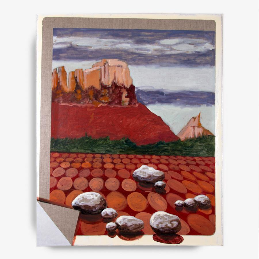 Utah Landscape with Red Tiles, Painting  by  Utah Landscape with Red Tiles Tappan
