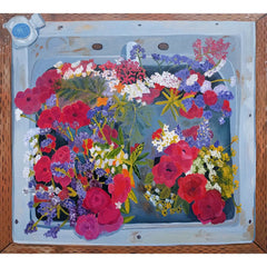 Farm Sink with Flowers