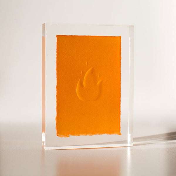 Poured Study No. 30 - Flame