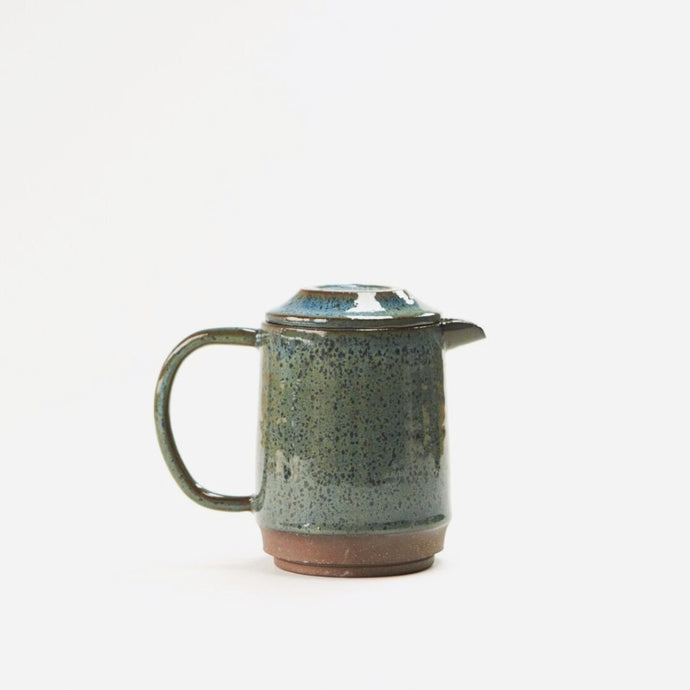 Speckled Blue-Green Tea or Coffee Pot