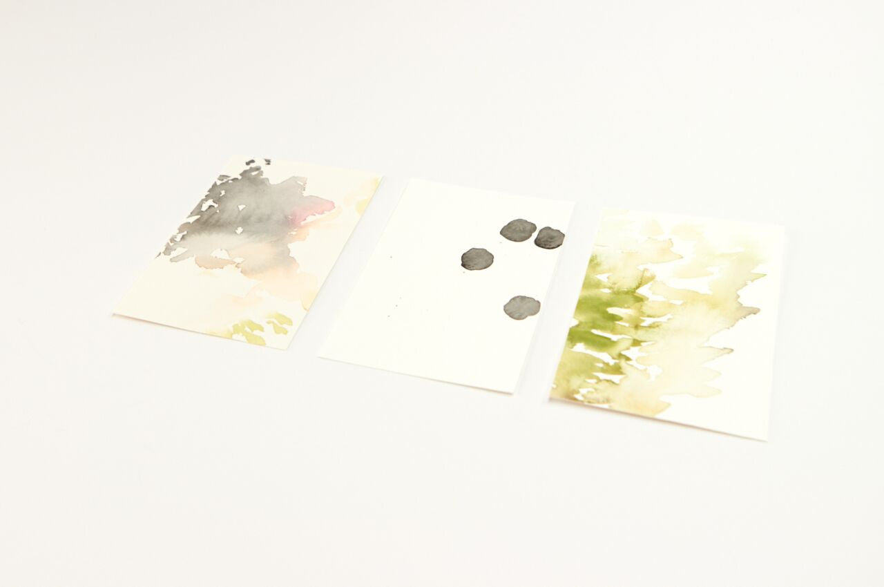 Small Watercolor Painting Set: Green
