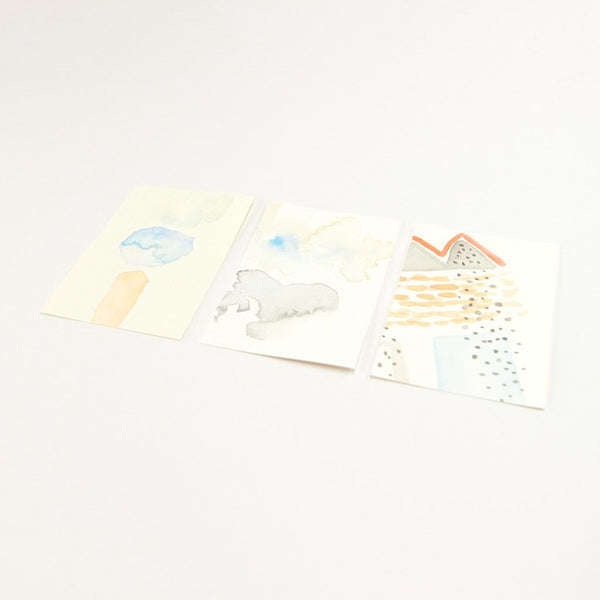 Small Watercolor Painting Set: Blue