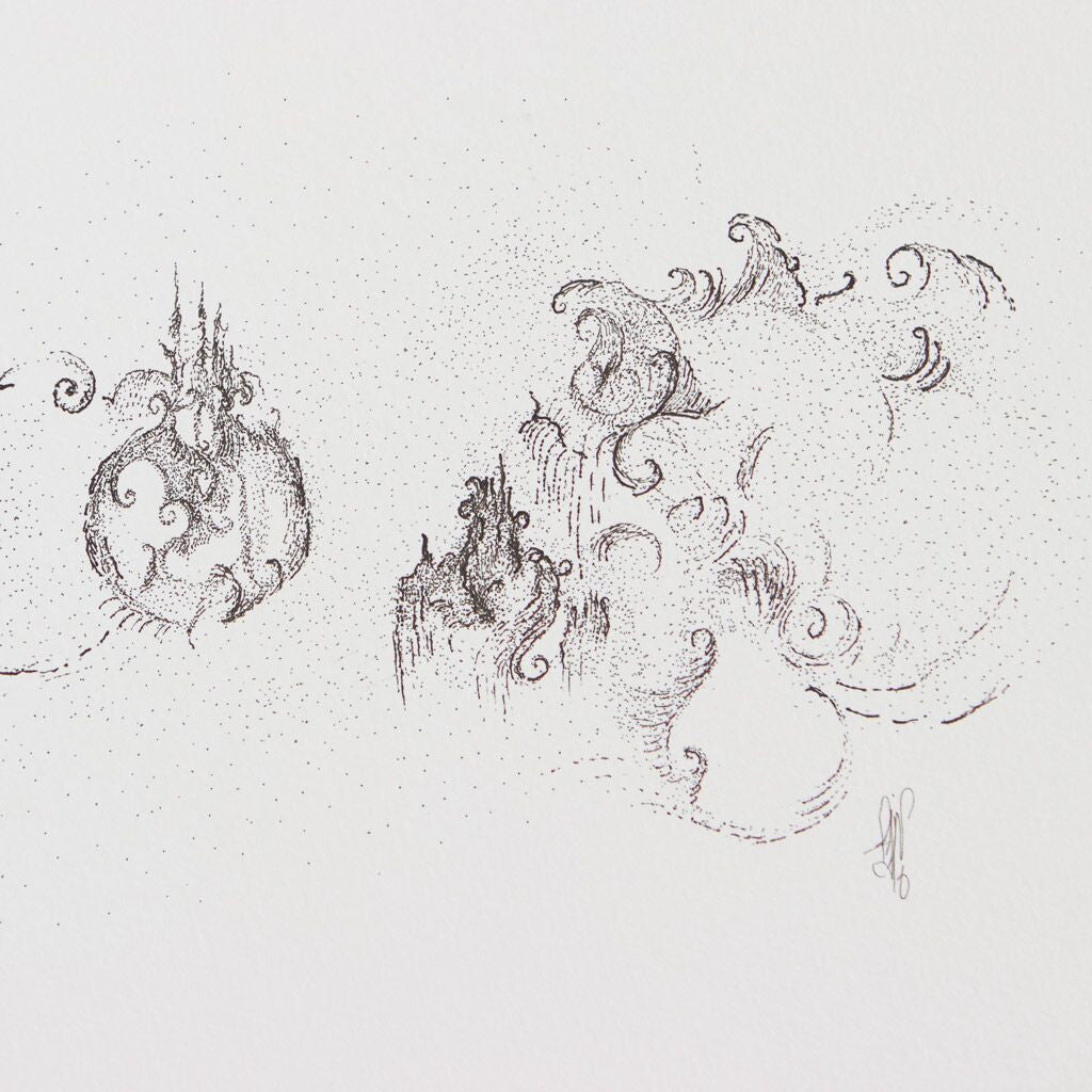 The Pomegranates, Drawing  by  The Pomegranates Tappan