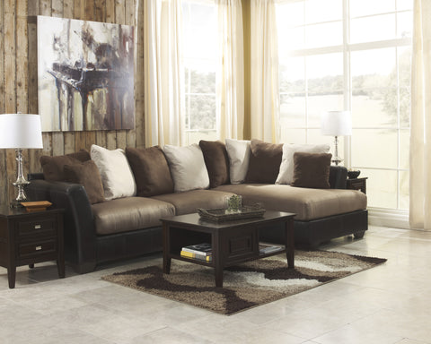 Masoli Mocha Sectional w/ Right Corner Chaise