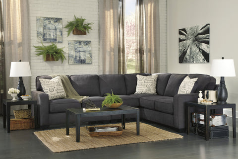 Alenya Charcoal 3pc Sectional