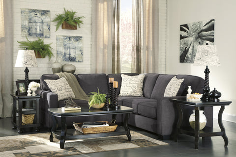 Alenya Charcoal 2pc Sectional