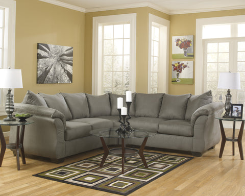 Megan - Cobblestone Sectional Sofa 2pcs