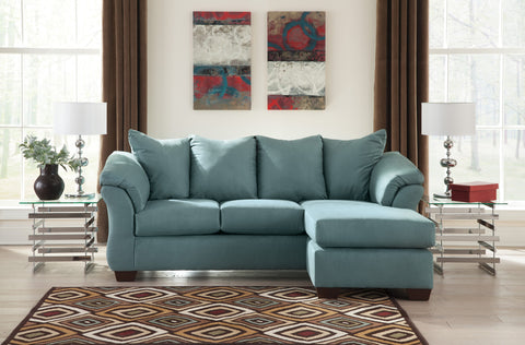 Darcy Sky Sofa Chaise Reversible