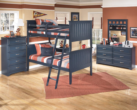 Leo Kids Twin Over Twin Bunk Bed