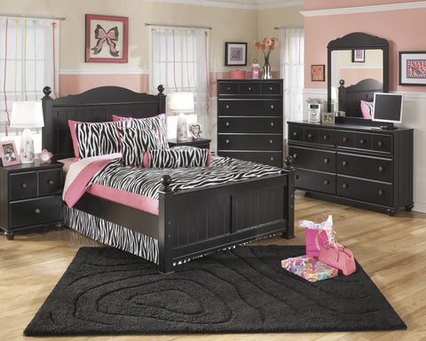 Jaidyn 5pc Kids Full Poster Bedroom Set