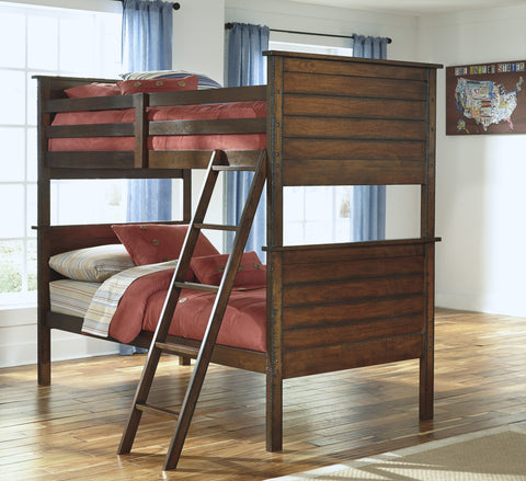 Ladiville Kids Twin Over Twin Bunk Bed