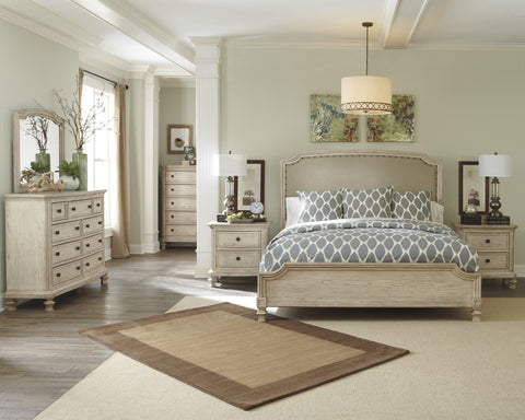 Demarlos - 5pc UPH Queen Panel Bedroom Set