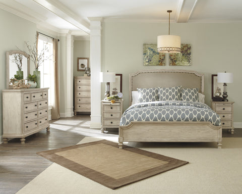 Demarlos - 5pc UPH King Panel Bedroom Set