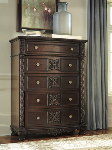 Laddenfield - Five Drawer Chest