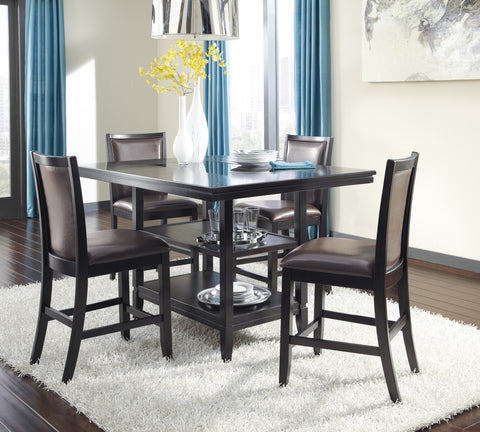 Trishelle 5pc Counter Height Table Set